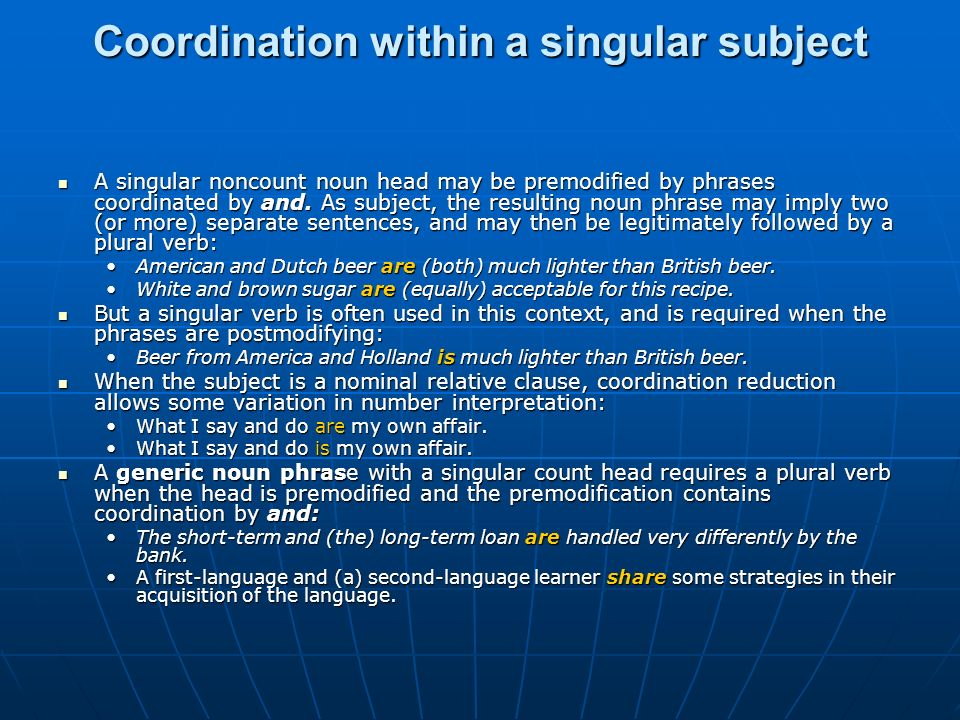 Coordination within a singular subject