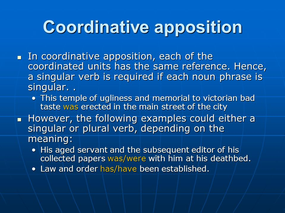 Coordinative apposition