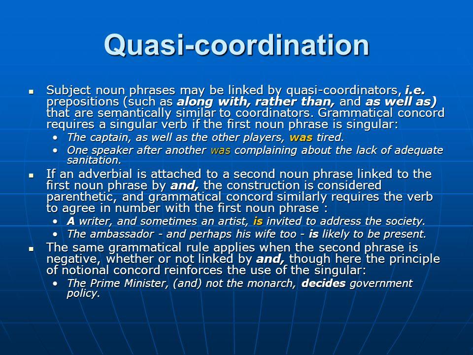 Quasi-coordination