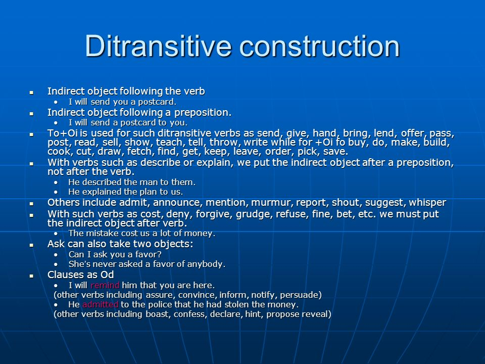 Ditransitive construction