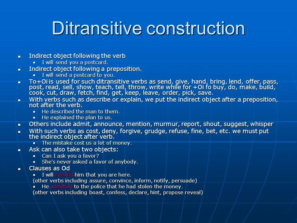 Ditransitive construction