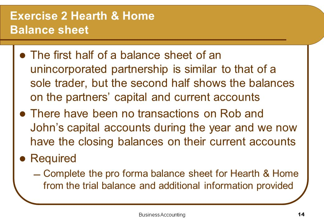 Exercise 2 Hearth & Home Balance sheet