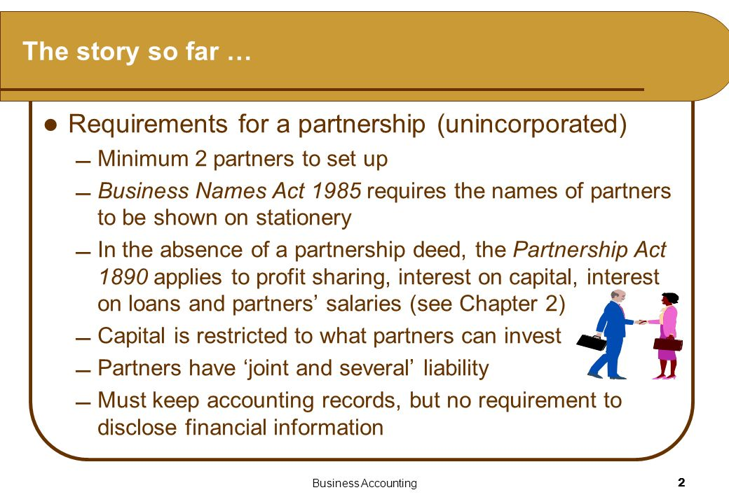 Financial statements of a partnership
