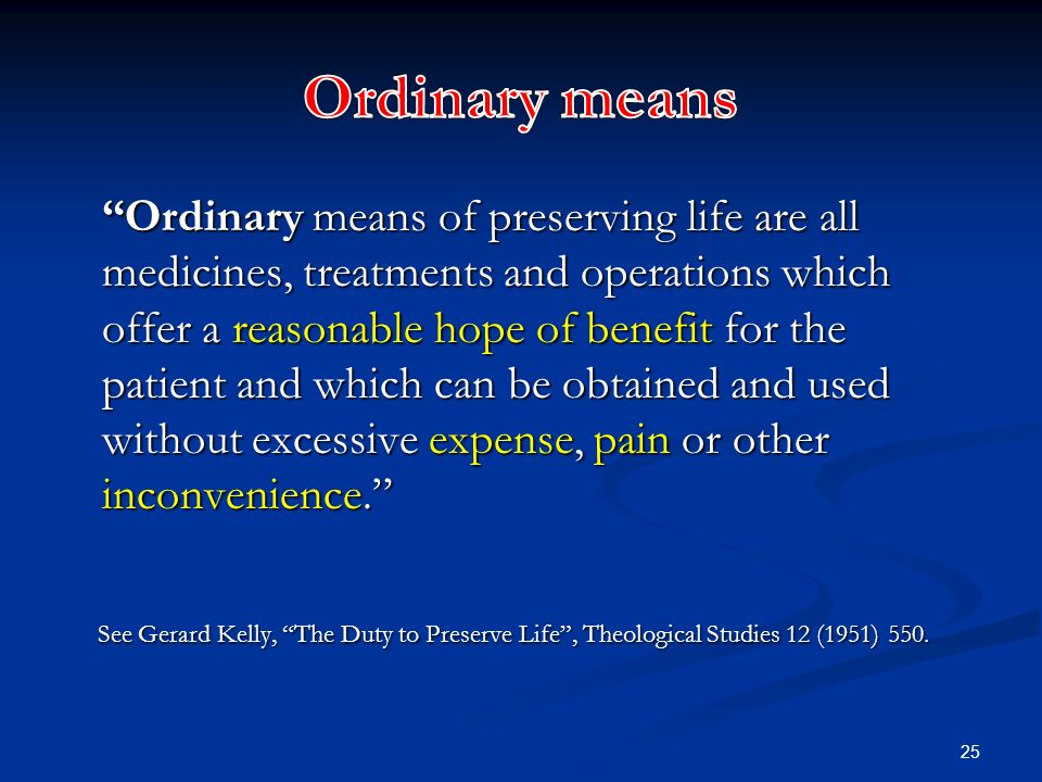 Ordinary means