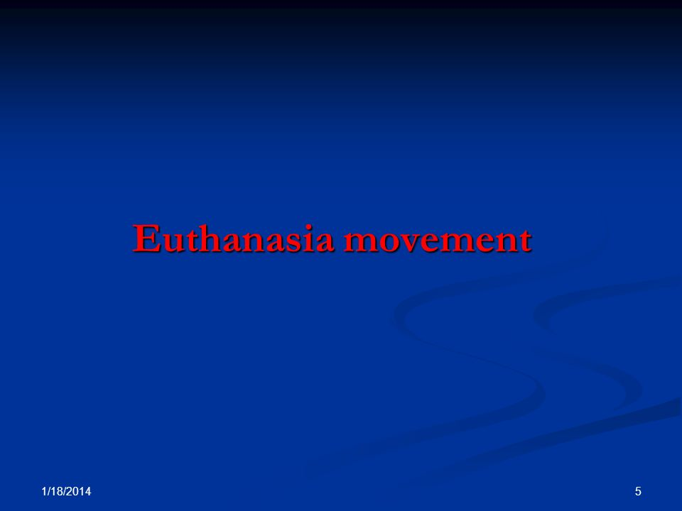Euthanasia movement 3/25/2017