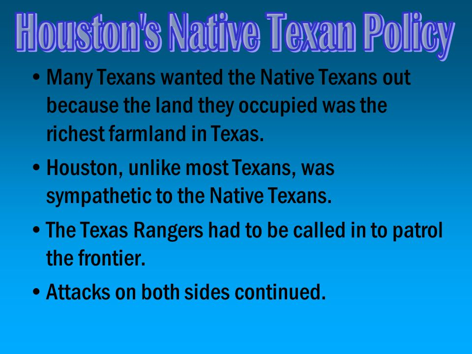 Houston s Native Texan Policy