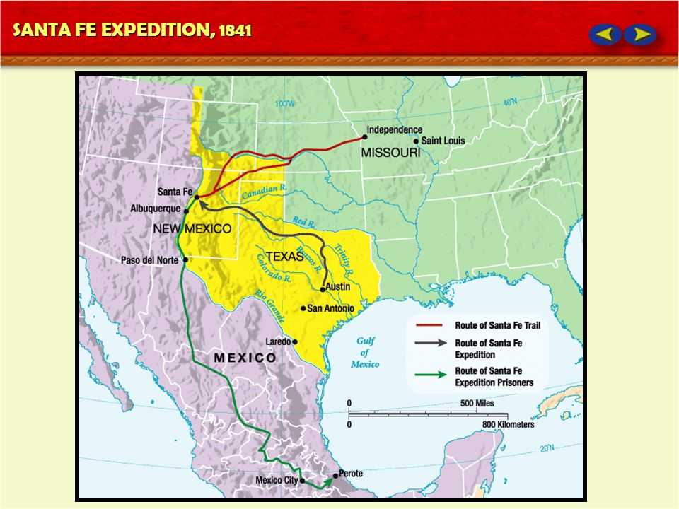 SANTA FE EXPEDITION, 1841
