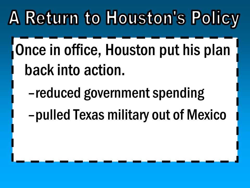 A Return to Houston s Policy