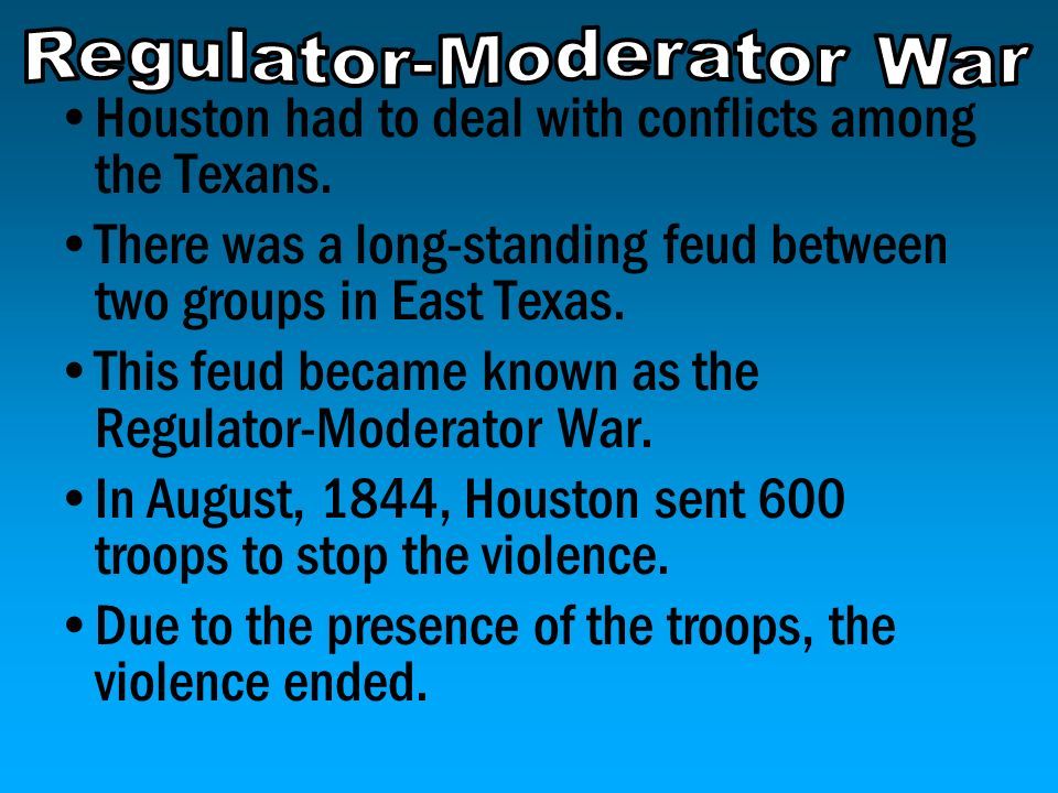 Regulator-Moderator War