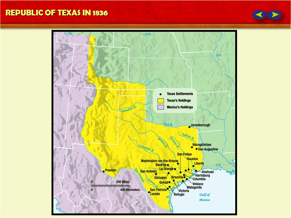 REPUBLIC OF TEXAS IN 1836