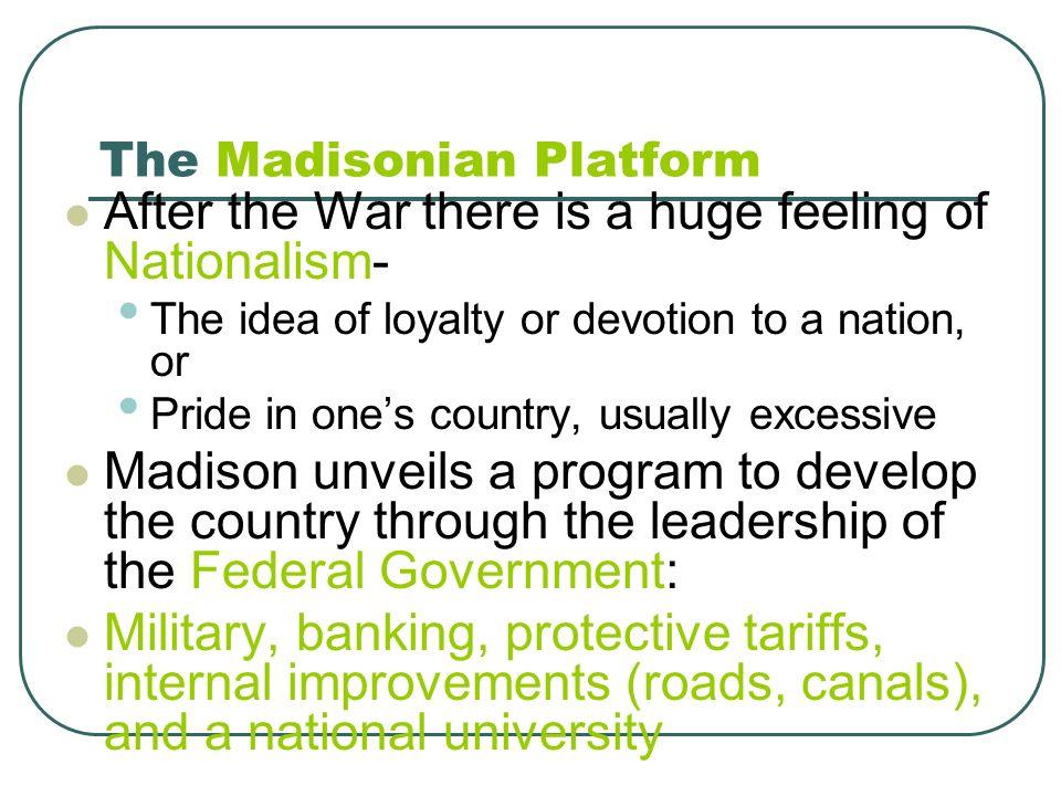 The Madisonian Platform