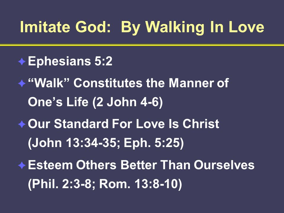 Imitate God: By Walking In Love