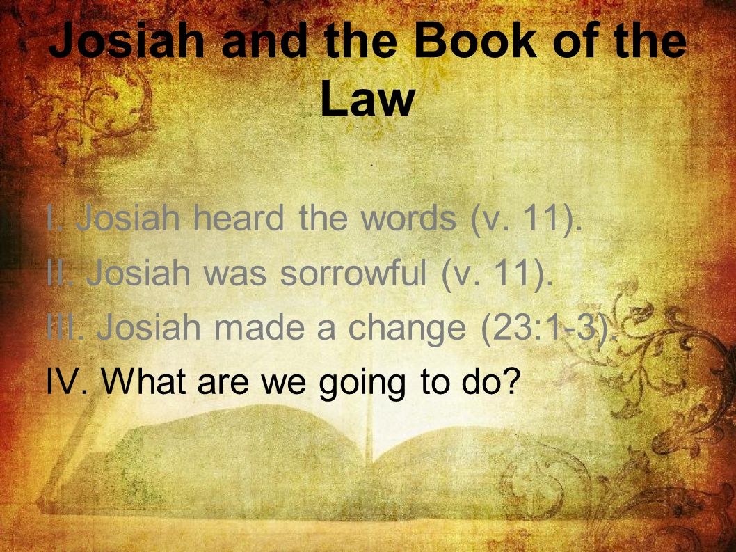 Josiah and the Book of the Law