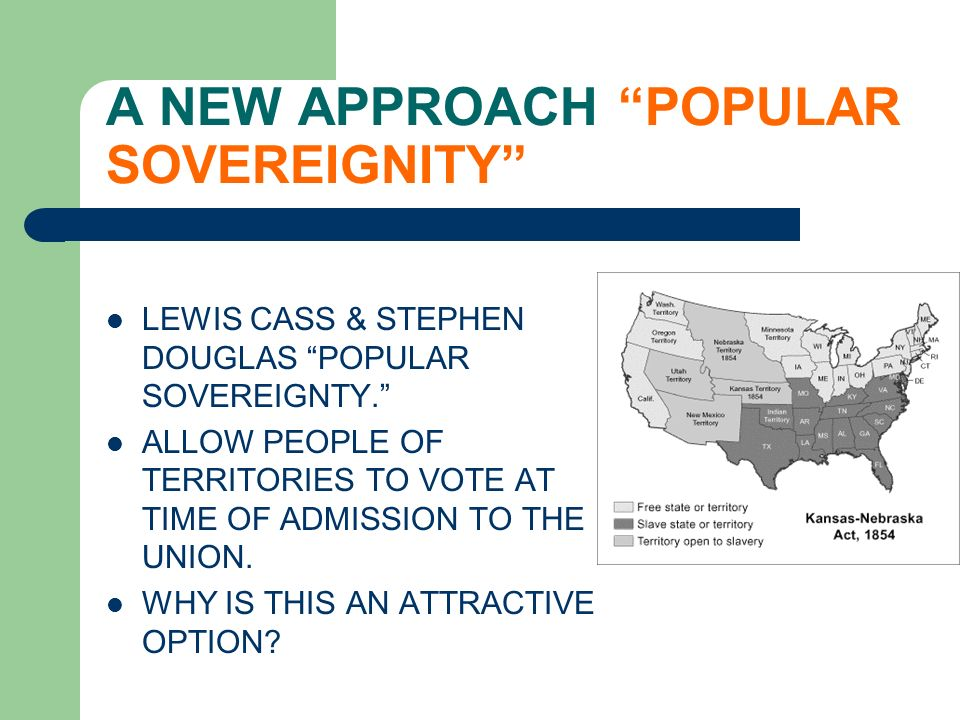 A NEW APPROACH POPULAR SOVEREIGNITY