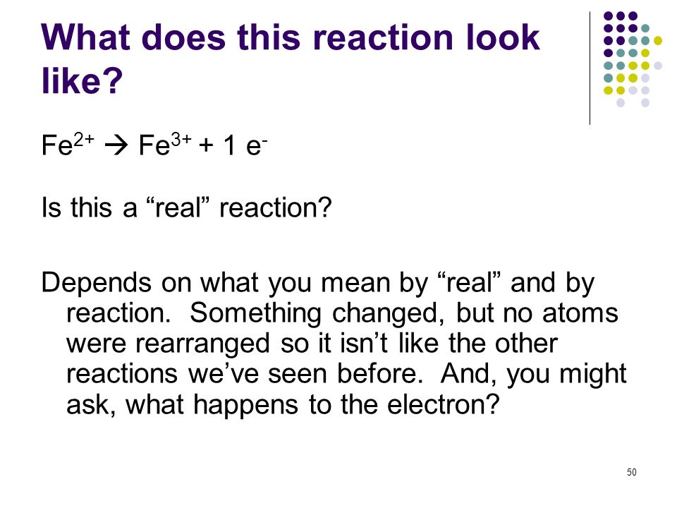 What does this reaction look like
