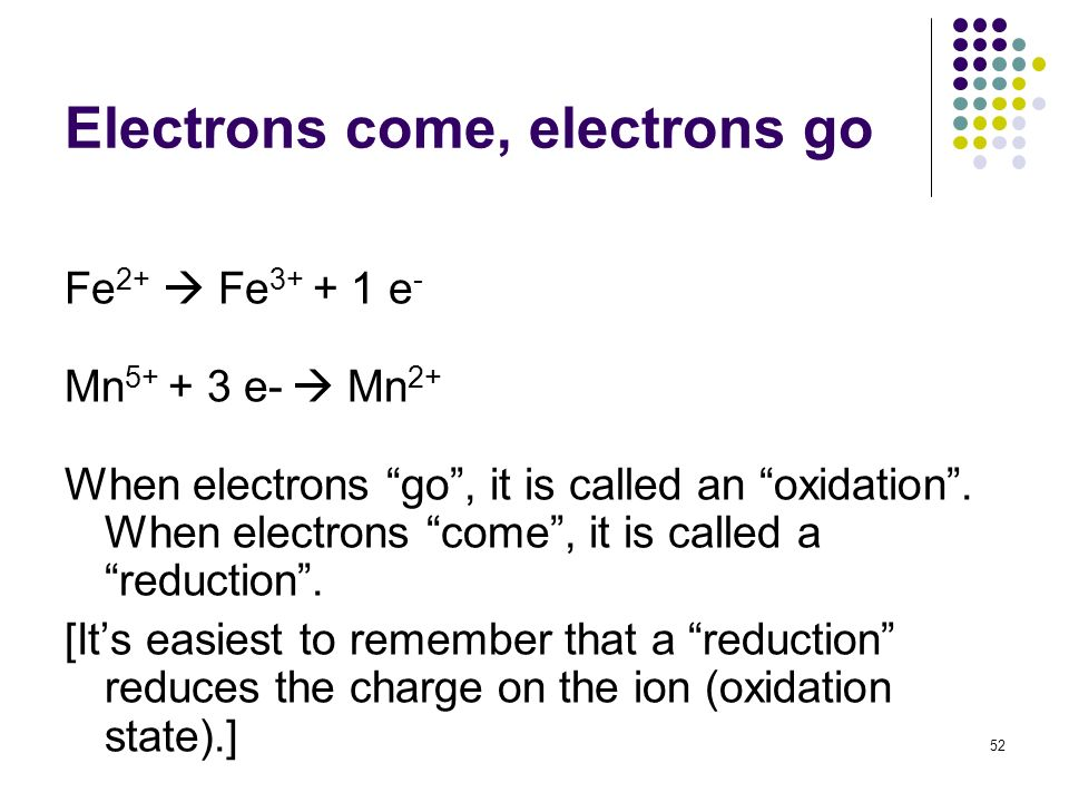 Electrons come, electrons go