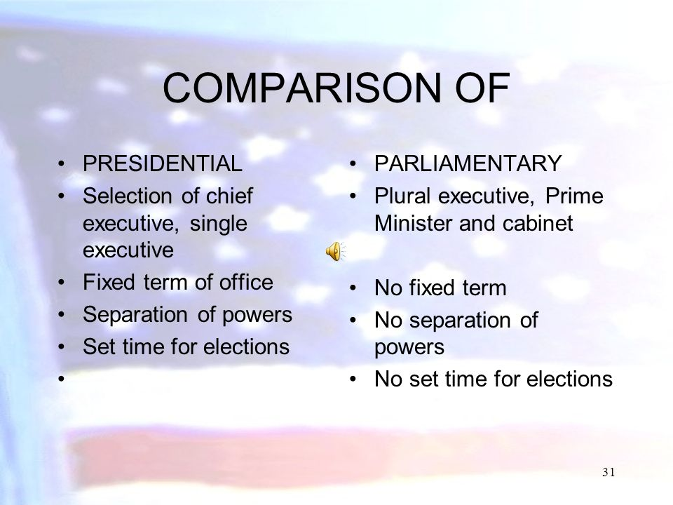 COMPARISON OF PRESIDENTIAL