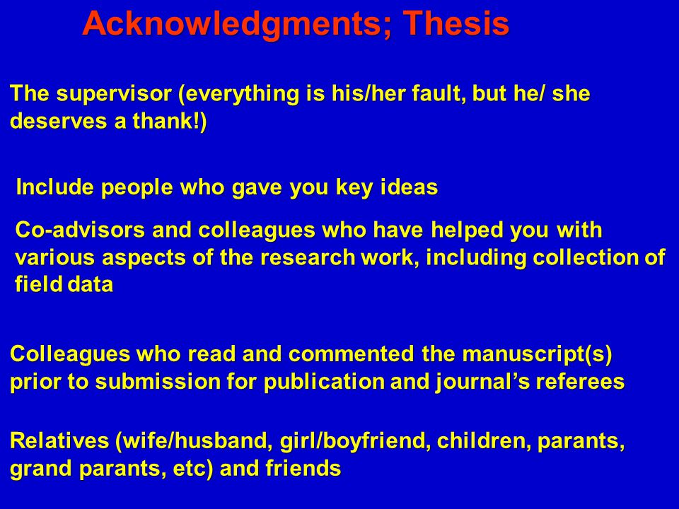 Acknowledgments; Thesis