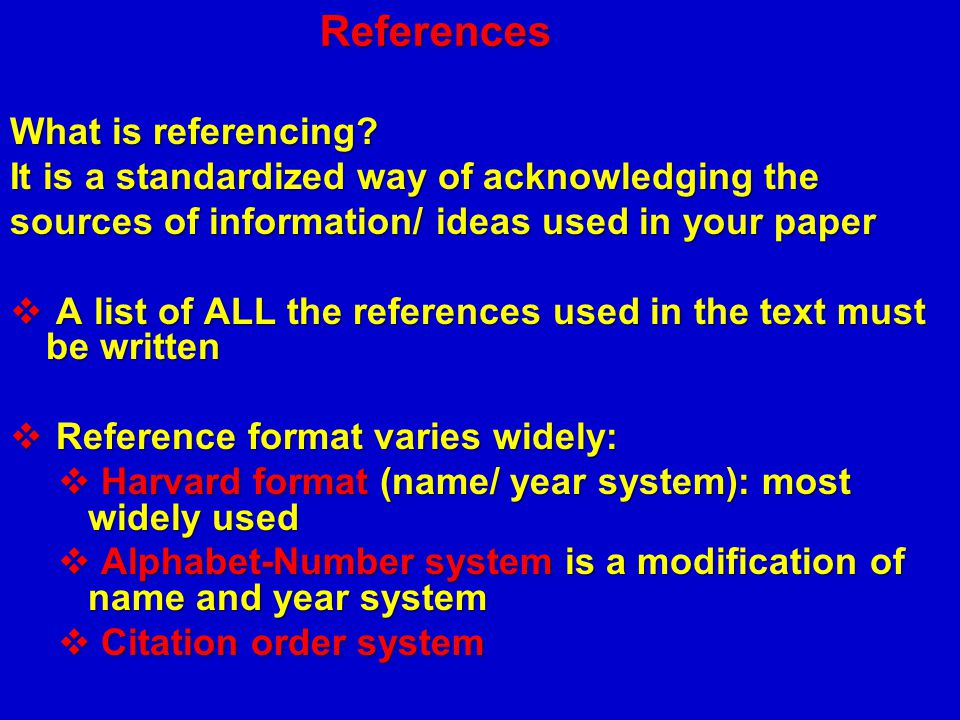 References What is referencing
