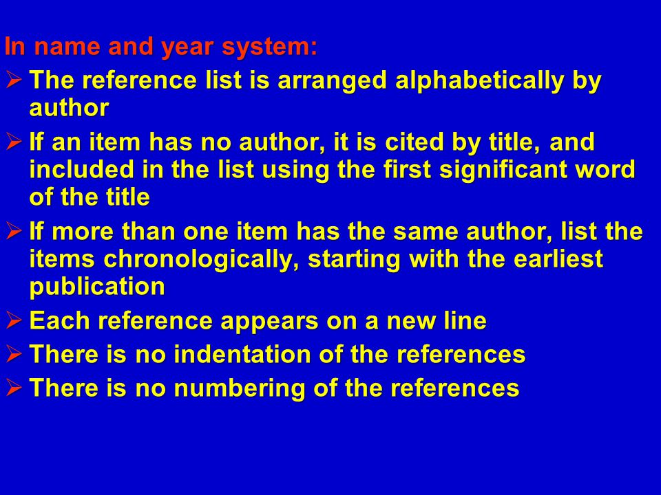 In name and year system: