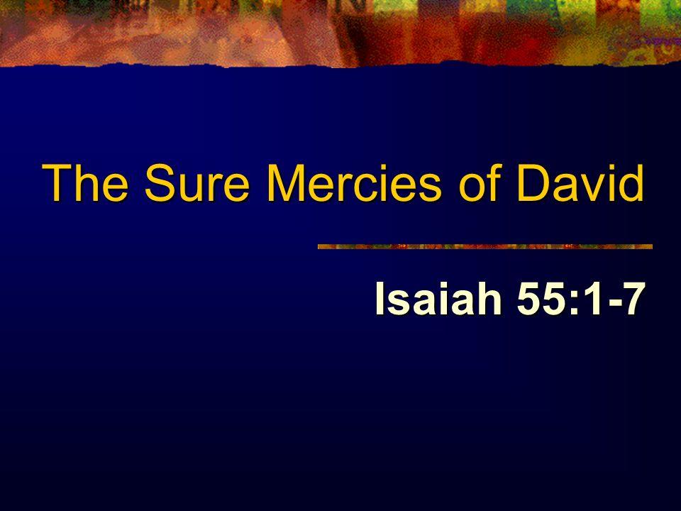 The Sure Mercies of David