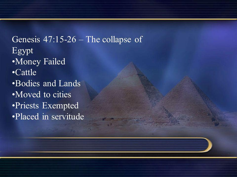 Genesis 47:15-26 – The collapse of Egypt