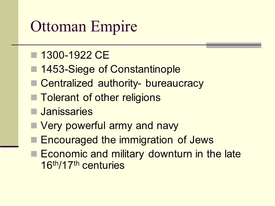 Ottoman Empire 1300-1922 CE 1453-Siege of Constantinople