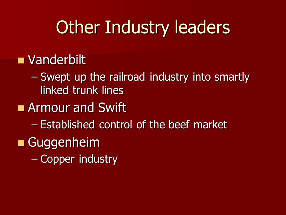 Other Industry leaders