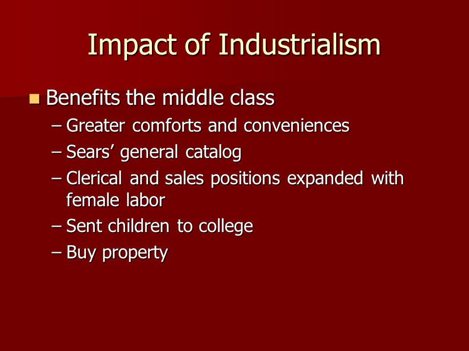 Impact of Industrialism