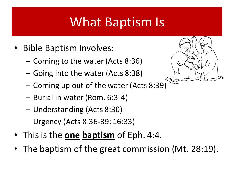 What Baptism Is Bible Baptism Involves: