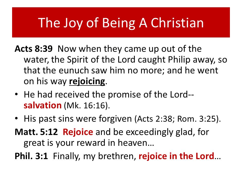 The Joy of Being A Christian
