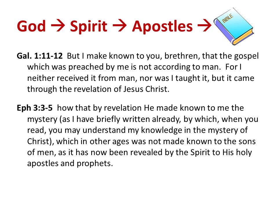 God  Spirit  Apostles 