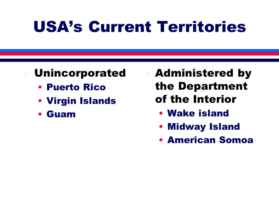 USA's Current Territories