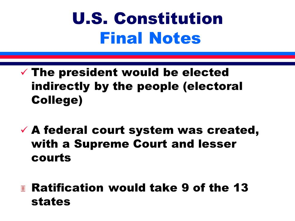 U.S. Constitution Final Notes