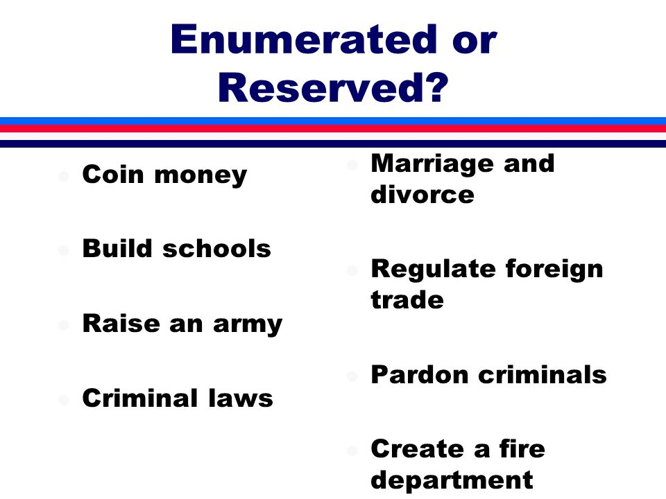 Enumerated or Reserved