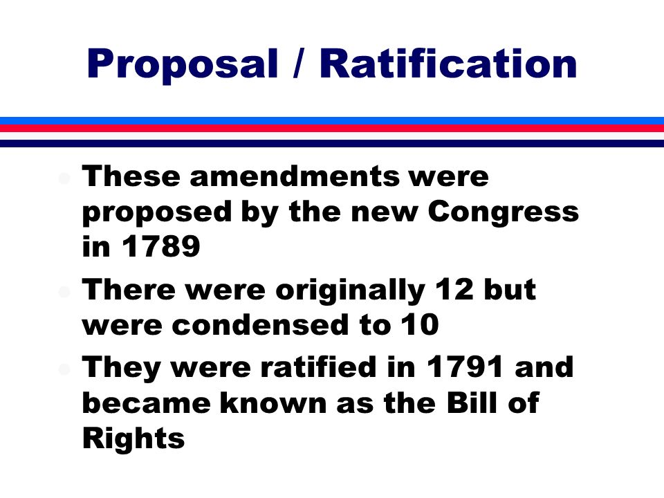Proposal / Ratification