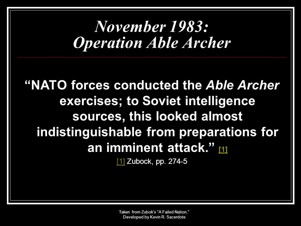 November 1983: Operation Able Archer
