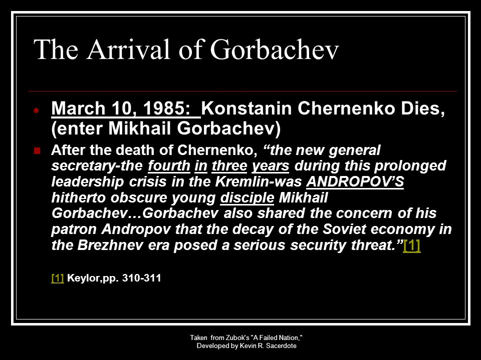 The Arrival of Gorbachev