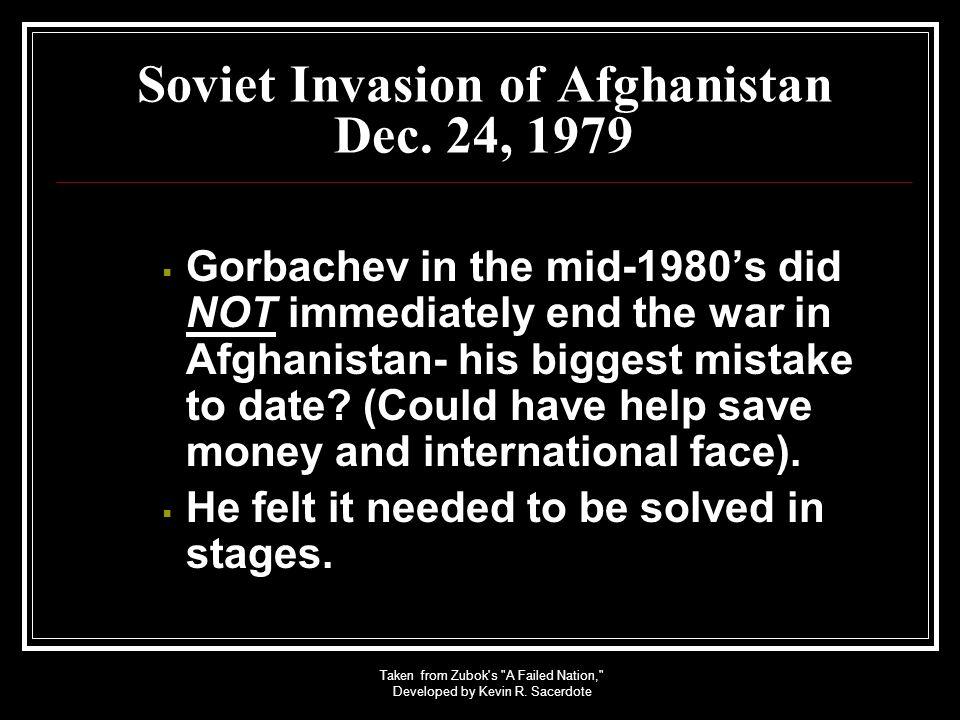 Soviet Invasion of Afghanistan Dec. 24, 1979