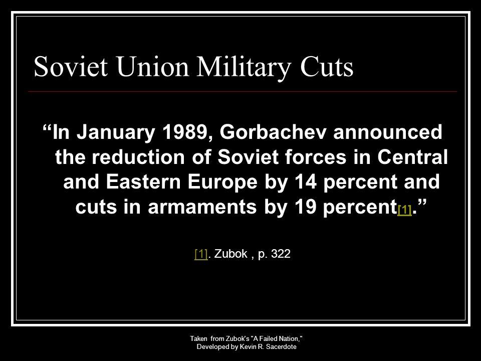 Soviet Union Military Cuts