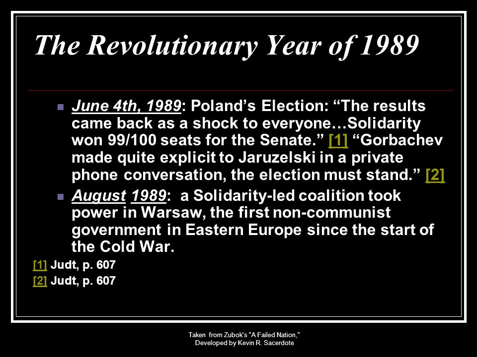 The Revolutionary Year of 1989