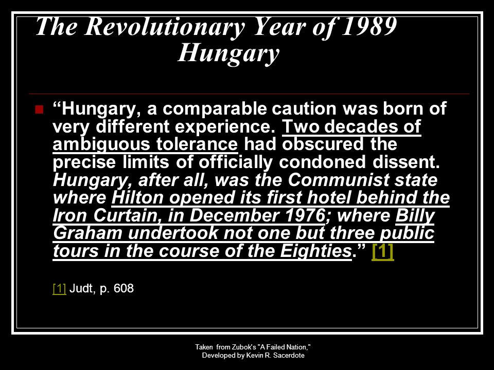 The Revolutionary Year of 1989 Hungary