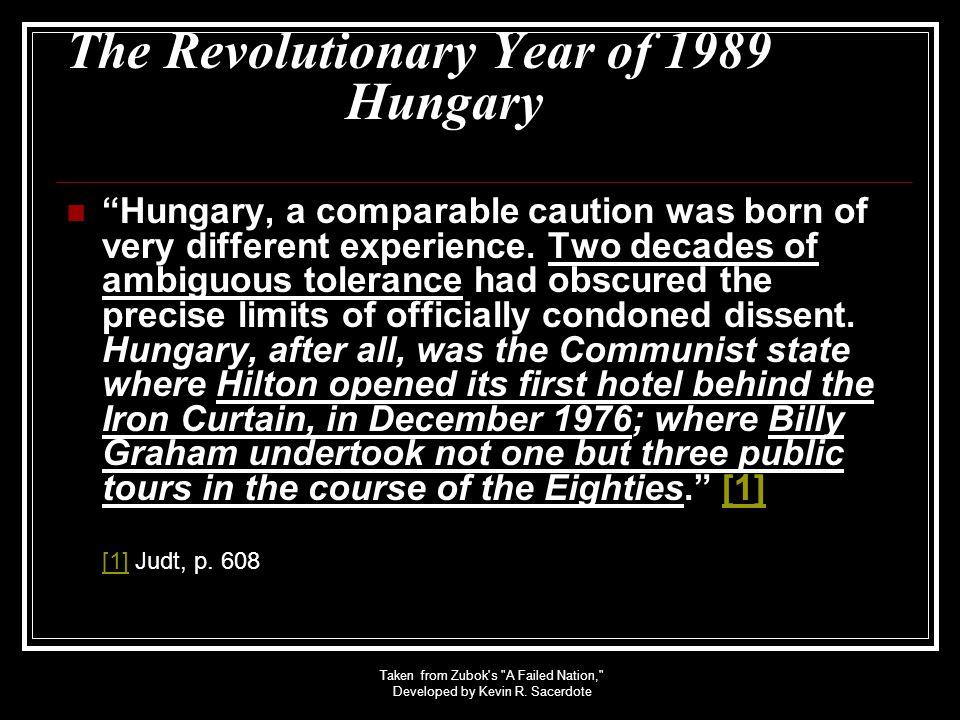 The Revolutionary Year of 1989 Hungary