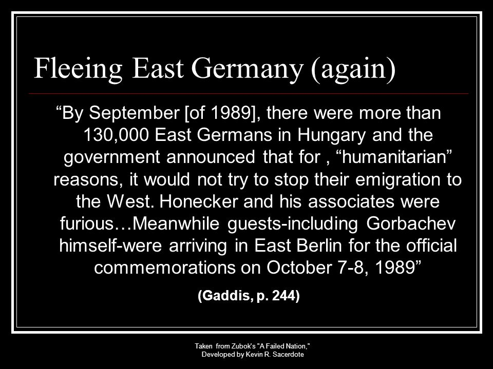 Fleeing East Germany (again)