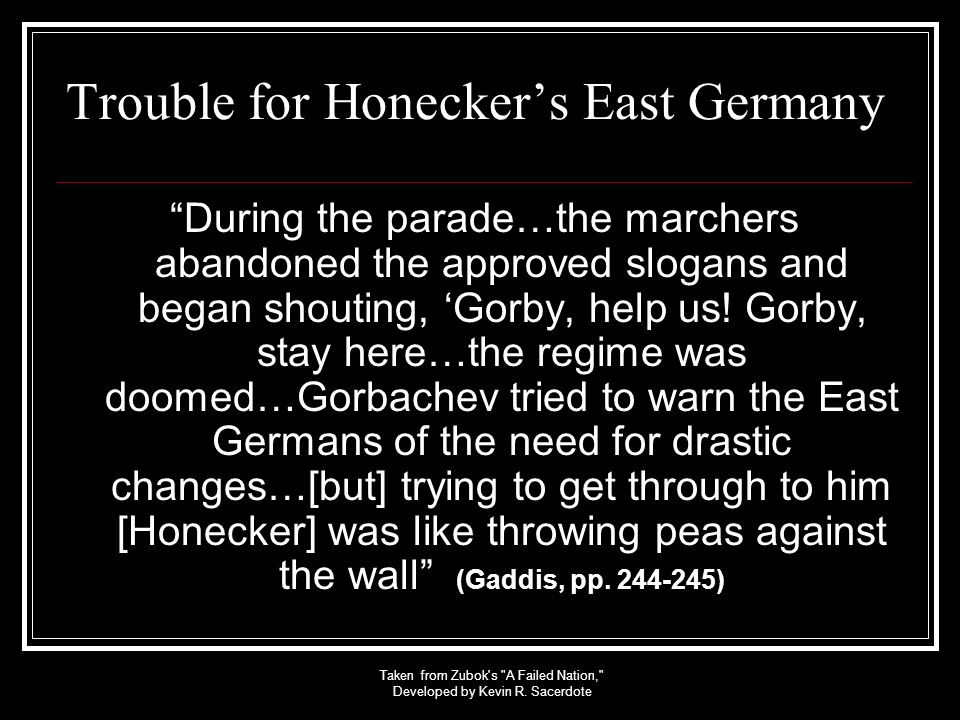 Trouble for Honecker's East Germany