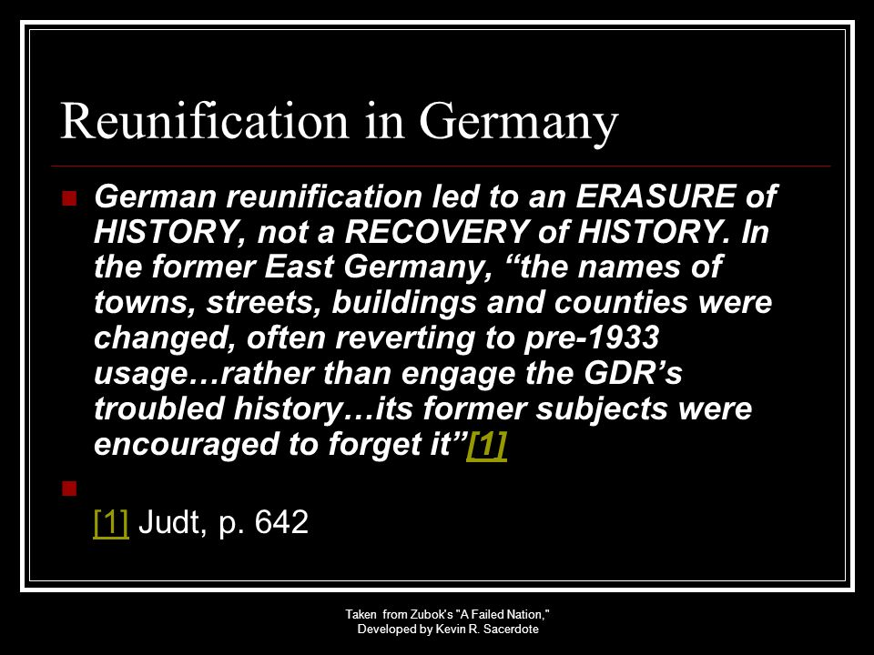 Reunification in Germany