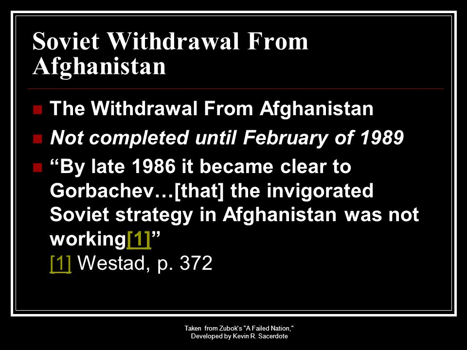 Soviet Withdrawal From Afghanistan