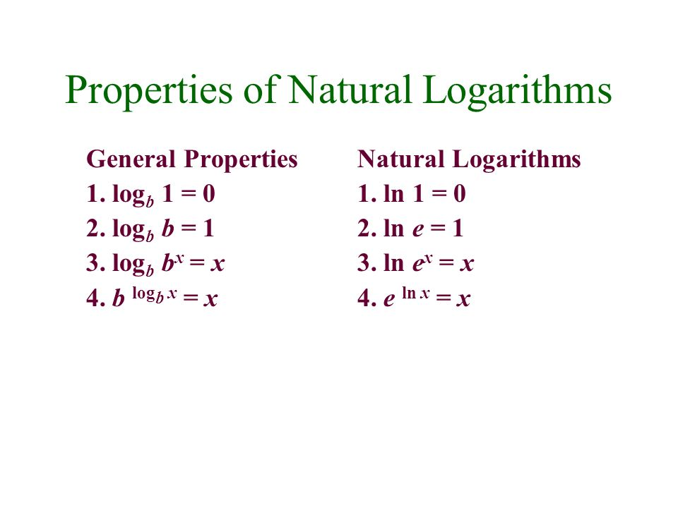 4.3 Rules of Logarithms. - ppt video online download