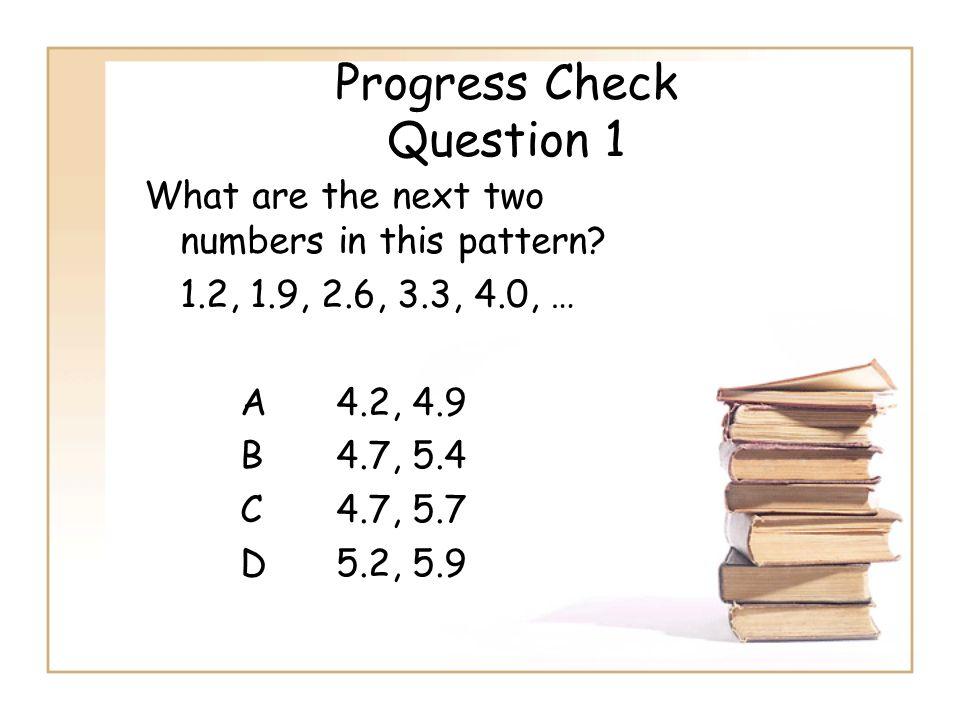 Progress Check Question 1
