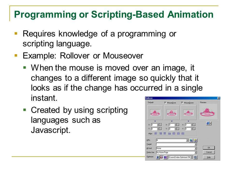 Programming or Scripting-Based Animation